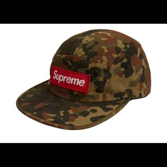 441bb0cfdd9 Supreme Military Camp Cap Olive German Camo SS19